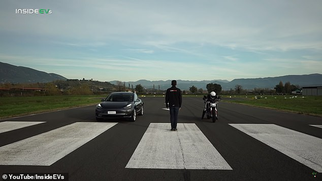 Tesla Model 3 Performance takes on Zero Motorcycles SR/F in zero emission drag race