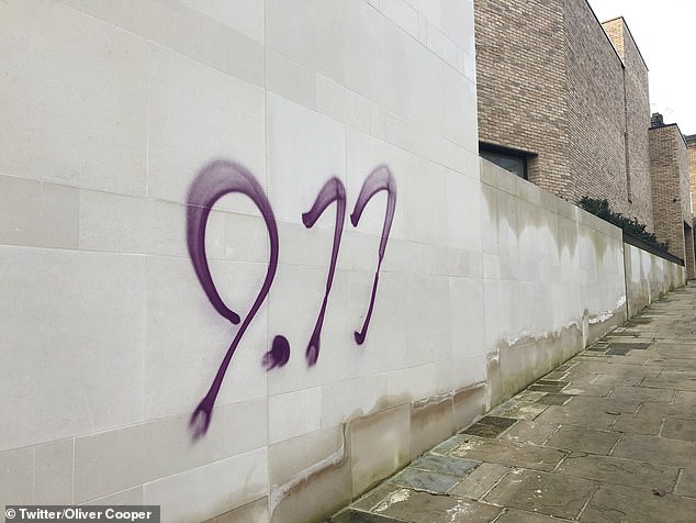 Police investigate hate crime after thugs scrawled anti-Semitic graffiti in London